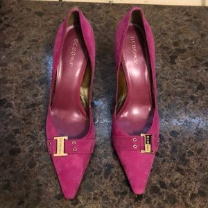 NEW Magenta color suede high heels